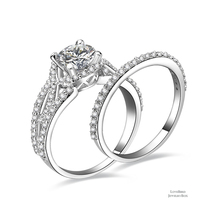 1 ct Round Cut Infinity 925 Sterling Silver Cubic Zirconia Engagement Ring Set - $53.84