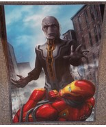 Avengers Iron Man vs Ebony Maw Glossy Art Print 11 x 17 In Hard Plastic ... - $24.99