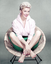Doris Day 16x20 Canvas Giclee amazing full length 1950's seated in chair - $69.99