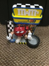M & M's Racing Team Candy Dispenser - Flag Man Red Giving the Thumbs Up - $19.79