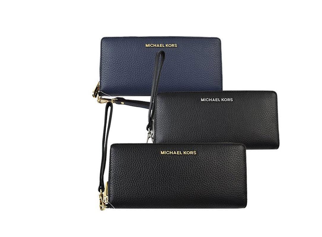 cae9b204da25 57. 57. Previous. Michael kors jet set travel continental wristlet leather  wallet clutch NWT · Michael ...