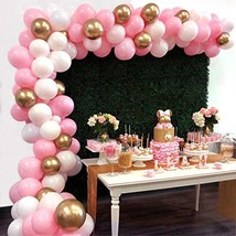 Balloon Garland Arch Kit 16Ft Long 112pcs Pink White Gold Balloons Pack for Girl