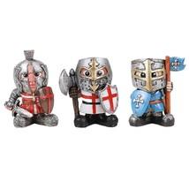 Medieval Time Renaissance Miniature European Knights Sculpture Set of 3 - $23.75
