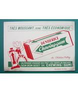INK BLOTTER Advertisemet: 1955 Dentifrice Chewing Gum - $4.41