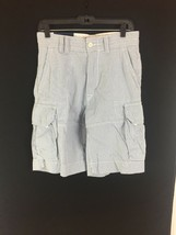 Men's blue white Polo Chino Cargo seersucker shorts by Ralph Lauren Size 30 New - $31.49