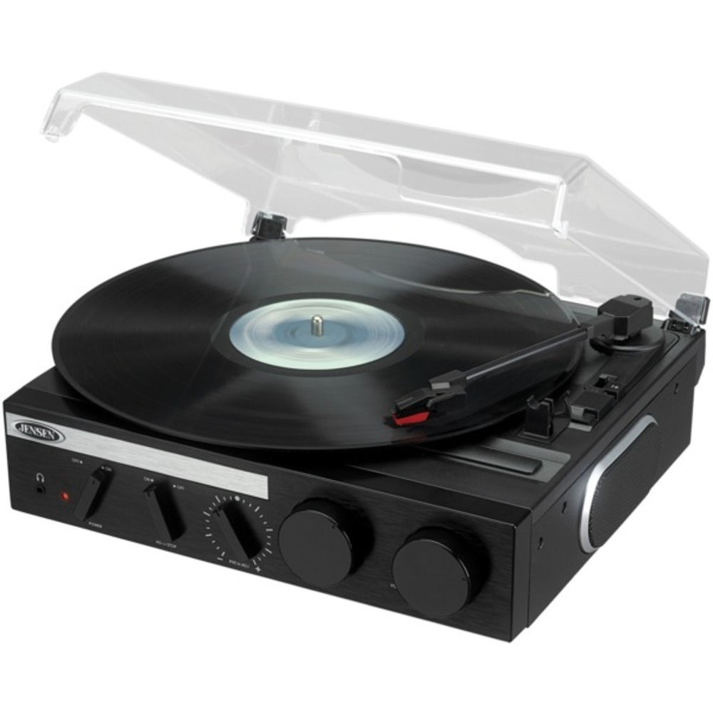 Primary image for JENSEN JTA-230R 3-Speed Stereo Turntable with Built-in Speakers and Encoding to