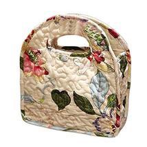 PANDA SUPERSTORE Floral Lunch Tote Bag Cotton Picnic Bag Reusable Lunch Bag Shop