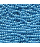 11/0 Seed Bead Rocaille Full Hank Blue 5 - $11.95