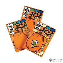 12 MAKE a Jack O'Lantern/PUMPKIN Sticker Sheets/HALLOWEEN Party CRAFT AC... - €14,43 EUR