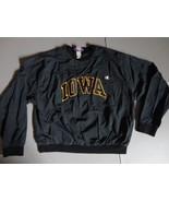 Black Vintage Champion Brand Iowa Hawkeyes Sewn Nylon Pullover Jacket Me... - $38.60