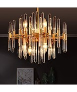 TZOE Modern Chandeliers,Crystal Chandelier,8 Light Round Pendant Light,W... - $181.99