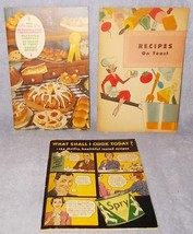 Vintage Recipe Cookbook Booklets Lot  Spry Fleischmann Mrs Karl's - $7.95
