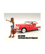 Hitchhiker 2 Piece Figure Set For 1:24 Scale Models by American Diorama - $18.46