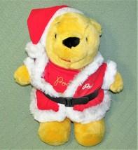 "18"" VINTAGE POOH SANTA SEARS Plush Stuffed Winnie Disney Santa Claus Sui... - $39.27"