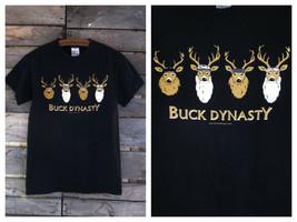 Buck Dynasty T-Shirt Black Cotton Tee Small Gildan - $12.59