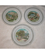 Set of 3 Roy Thomas Plates The Four Seasons Currier & Ives Spring, Summe... - $18.59
