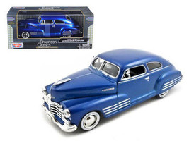 1948 Chevy Aerosedan Fleetline Blue 1/24 Diecast Model Car by Motormax - $34.95