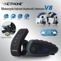 VNETPHONE Helmet Headset Motorcycle Intercom 1200m Helmet Bluetooth Inte... - $120.00