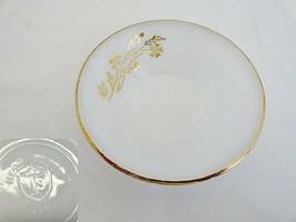 Federal Glass Meadow Gold Berry Dessert Bowl - $9.62