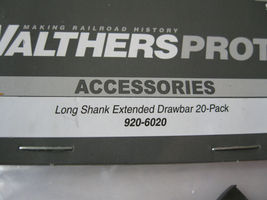 Walthers Proto Stock # 920-6020 Long Shank Extended Drawbar 20-Pack (HO Scale) image 3