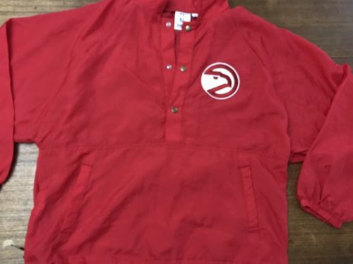 Primary image for Vintage Atlanta Hawks Chalk Line Nylon Jacket Size Medium Mint