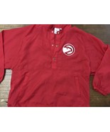 Vintage Atlanta Hawks Chalk Line Nylon Jacket Size Medium Mint - $25.65