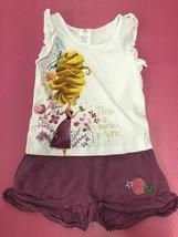 Disney Tangled Rapunzel 2pc print short set SIZE 5/6 - $12.82