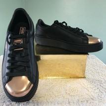 PUMA Black Metallic Platform Womens Fashion Sneaker Rose Gold  Lace Up S... - $69.29
