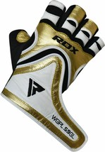 RDX MMA Kick Boxing GYM PAPER LEATHER GLOVES GOLDEN COLOR TOP QUALITY GR... - $74.00