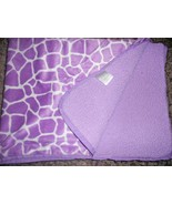 Carters Giraffe Spot Print Baby Blanket White Purple Lavender Sherpa - $44.43