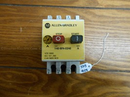 ALLEN BRADLEY CAT# 140MN0240 MANUAL STARTER W/140-A11 AUX - $37.61