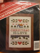 Benar Designs Counted Cross Stitch Kit CSK-51 Christmas is Love - $8.68