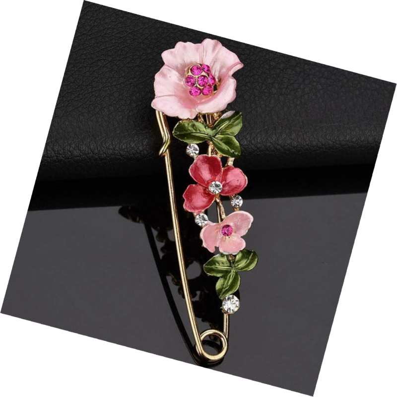Primary image for Fashion Cross Bee Flower Style Brooch Pink Party Evening Dress Costume Jewelry