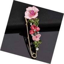 Fashion Cross Bee Flower Style Brooch Pink Party Evening Dress Costume Jewelry - $15.49