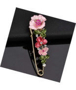 Fashion Cross Bee Flower Style Brooch Pink Party Evening Dress Costume J... - $15.49