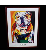 "25"" Bulldog Framed - Ron Burns Roscoe English Bulldog - pop Art Print - ... - $265.21 CAD"