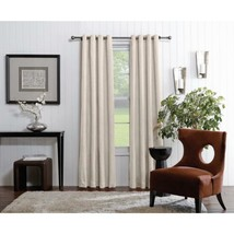 NEW Allen + Roth Merriby Ivory Curtain Panel, Grommet Top Single Panel, ... - $18.89