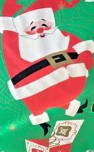 Vintage Christmas Dec-a-Door Cover Santa Claus Plastic Indoor Outdoor De... - $29.93