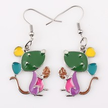 Bonsny mouse earrings drop alloy animal new  2015 fashion jewelry for wo... - $9.68