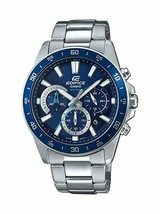 Casio Men's Edifice Quartz Watch with Stainless-Steel Strap, Silver, Blu... - £86.14 GBP