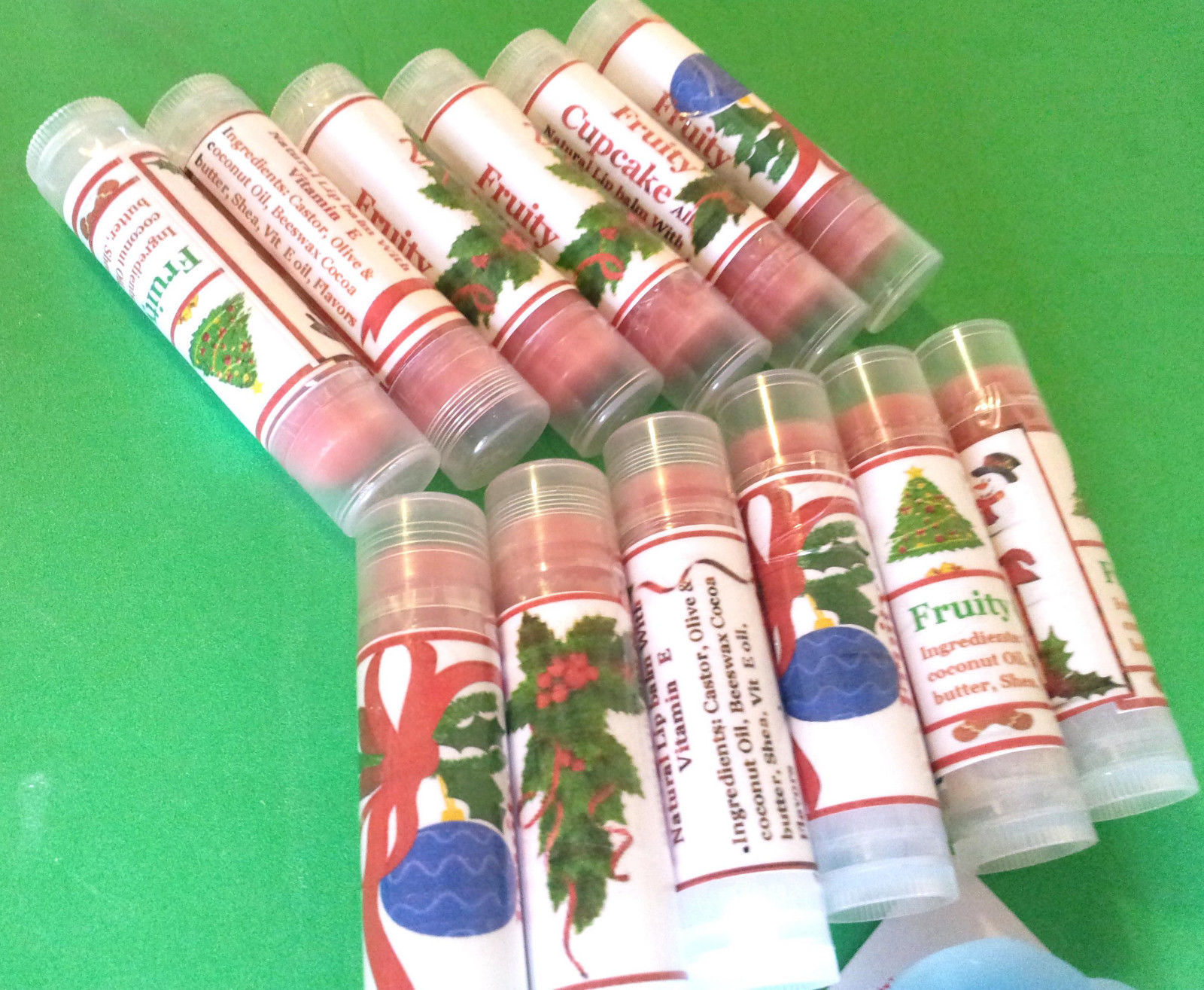 Homemade Natural Organic Tinted Lip Balm & Moisturizer -2Pcs, 5pcs, 10pcs