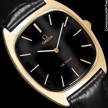 1978 OMEGA DE VILLE Vintage Mens 18K Gold Plated Watch - Mint with 1 Yr ... - $975.10