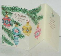 Hallmark XZH 607 1 Three Christmas Ornaments Red Blue Yellow Card Package 4 image 2