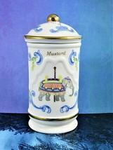 Lenox Mustard Jar The Spice Carousel Fine Porcelain Elephant Graphic Lid... - $11.87