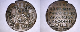 1802-IIR Italian States Papal States 1/2 Baiocco World Coin - Pius VII - $29.99