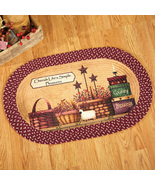 Primitive Country Charm Braided Rug, Brown  - $18.99