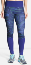 Brooks Threshold Size 2XL Extra Large Women's Activewear Tights Navy Cosmo