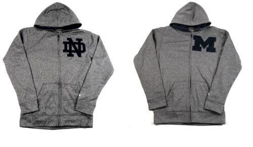 NCAA Men's Varsity Play Hoodie Full Zip Hooded Sweatshirt Marled Gray Licensed
