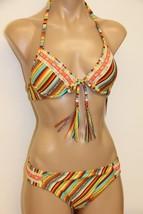 NWT Lucky Brand Swimsuit Bikini 2pc set Sz M Basic Fit SRS Underwire - $38.59