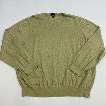 Lanesboro Light Knit Sweater Men's 2XL XXL Long Sleeve Green V Neck 100%... - $19.99